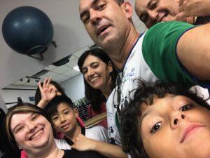 Capoeiras celebrating the fisrt class at Vault Fitness